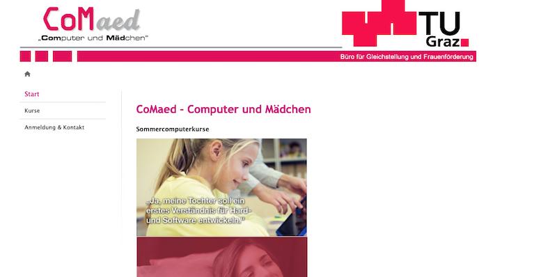 TU Graz: CoMaed – Computer und Mädchen