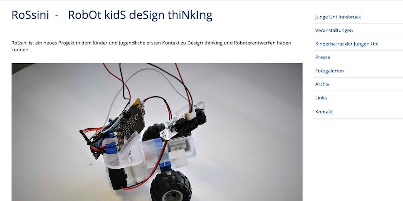 Uni Innsbruck: RoSsini – RobOt kidS deSign thiNkIng