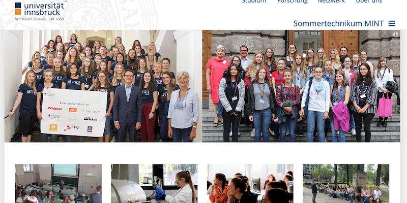 Uni Innsbruck: Sommertechnikum MINT