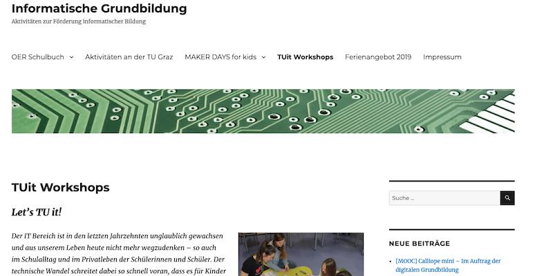 TU Graz: TUit Workshops