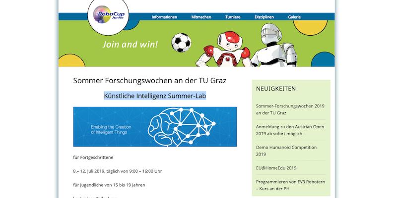 TU Graz: Künstliche Intelligenz – Summer Lab